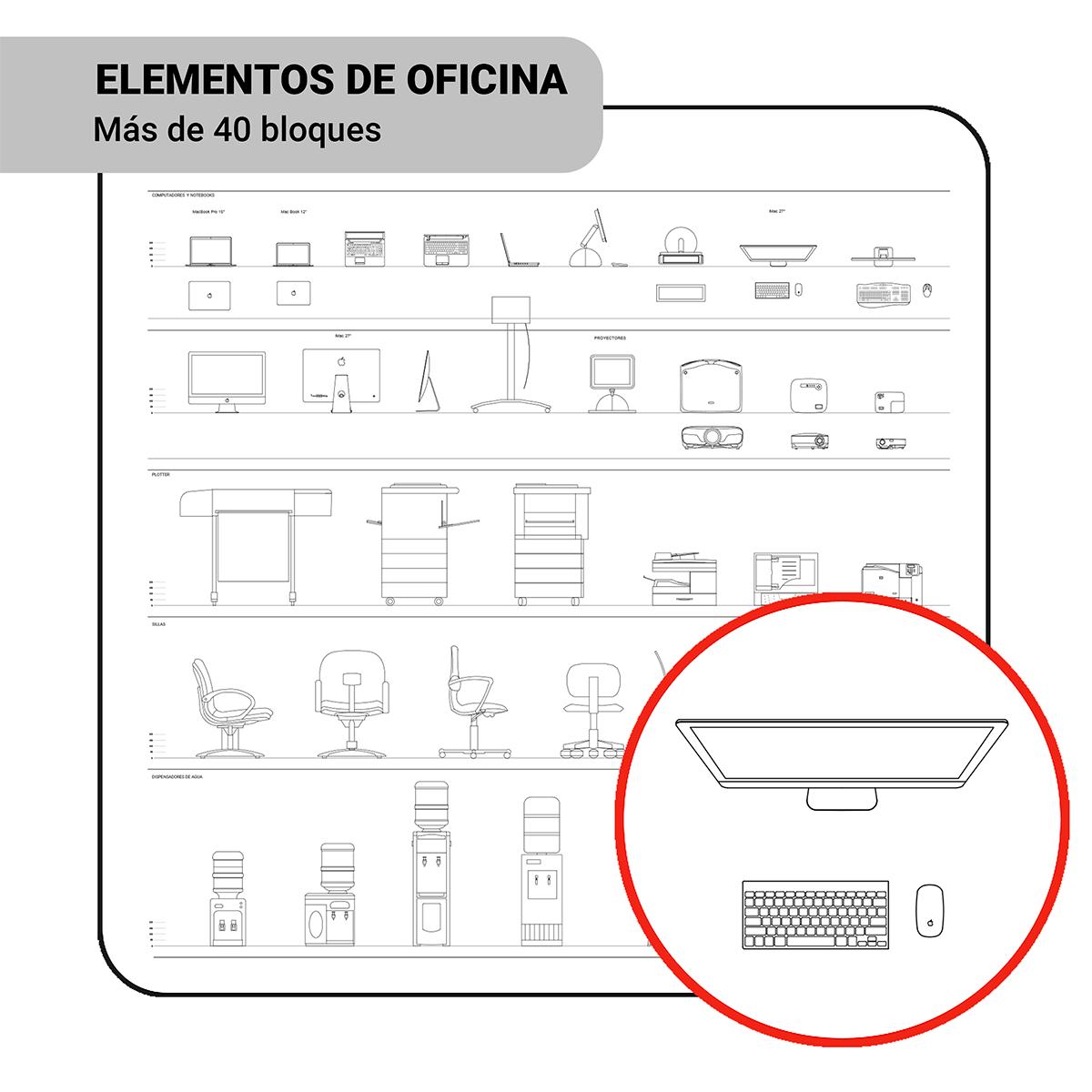Bloques: Elementos de Oficina