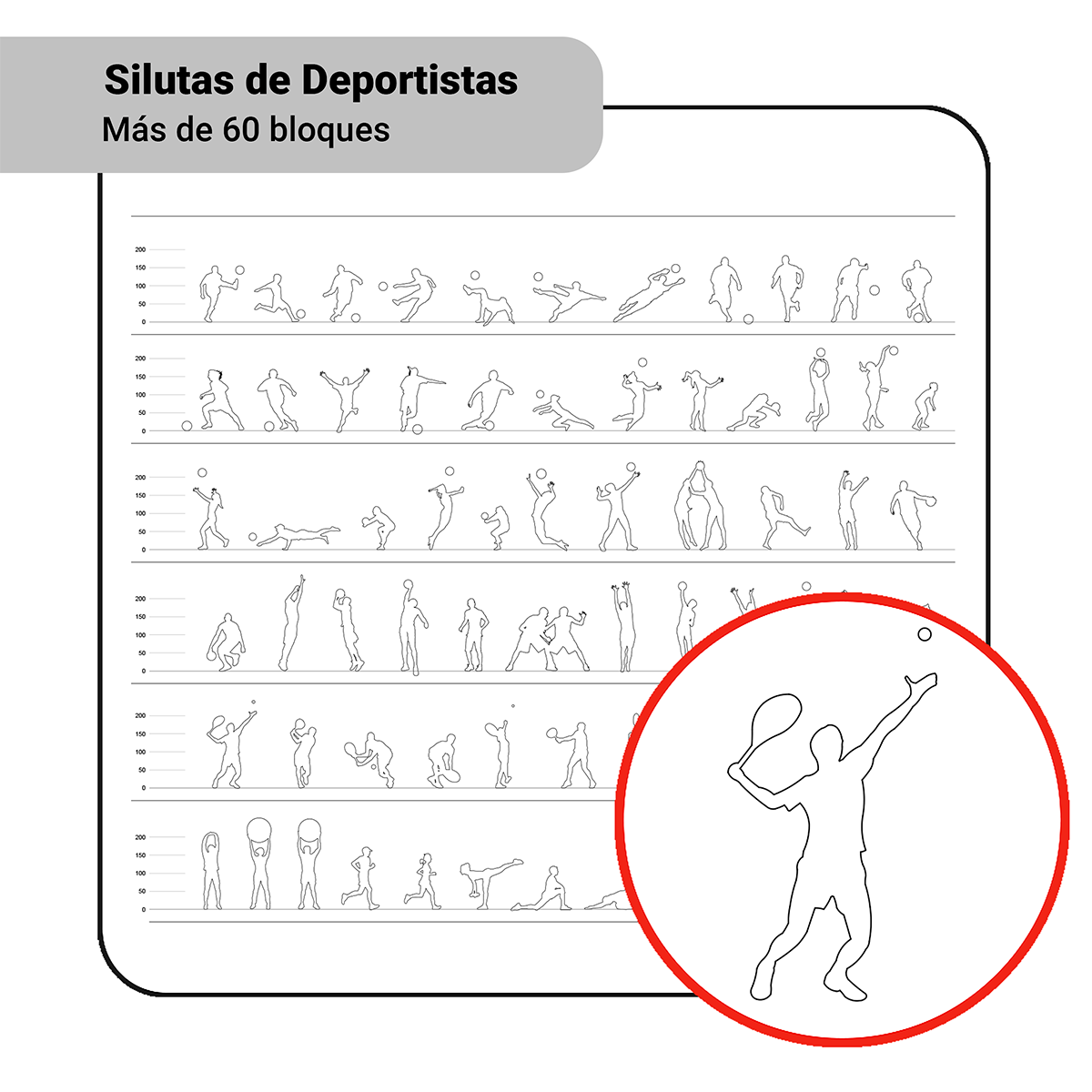 Bloques: Siluetas de Deportistas