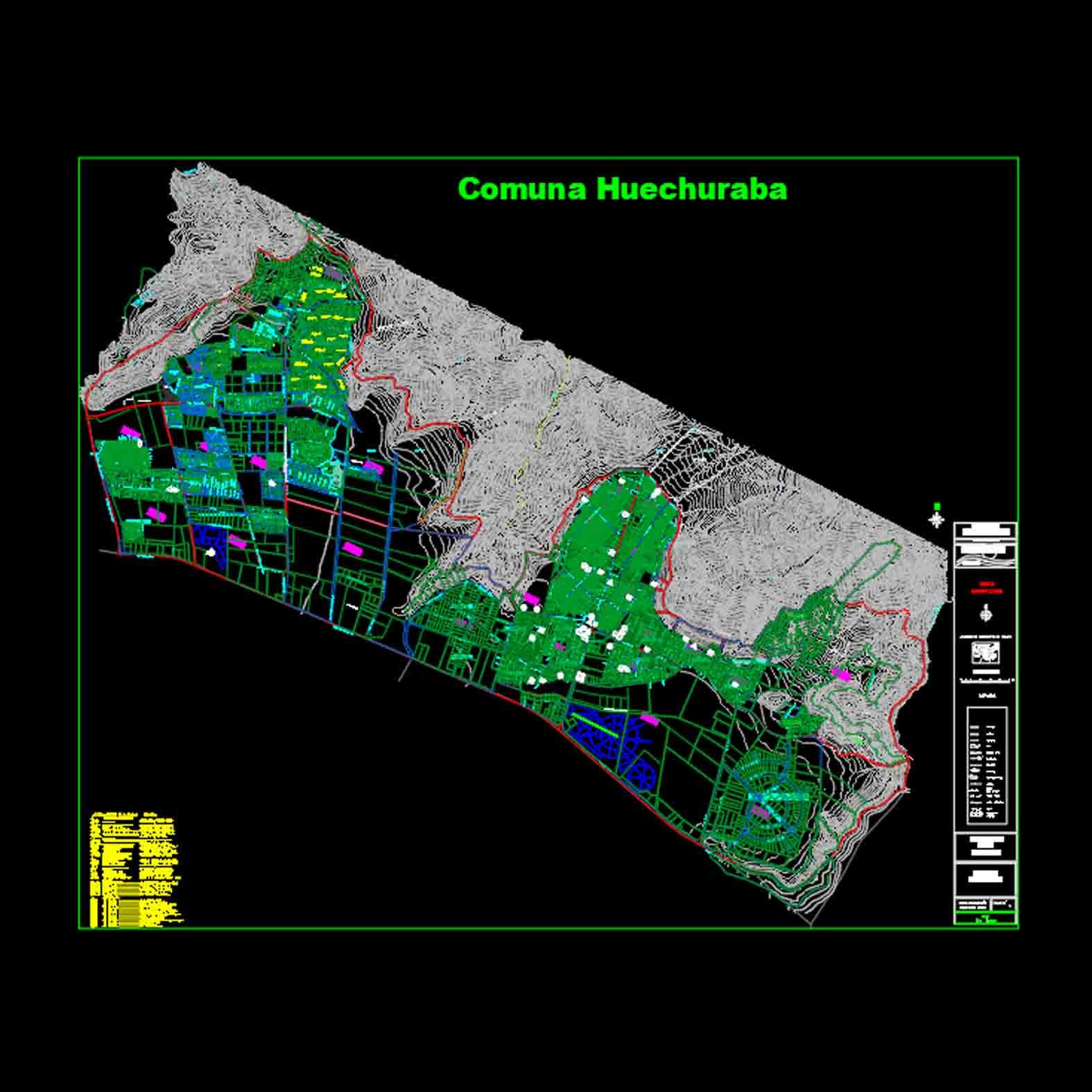 Plano: Comuna de Huechuraba
