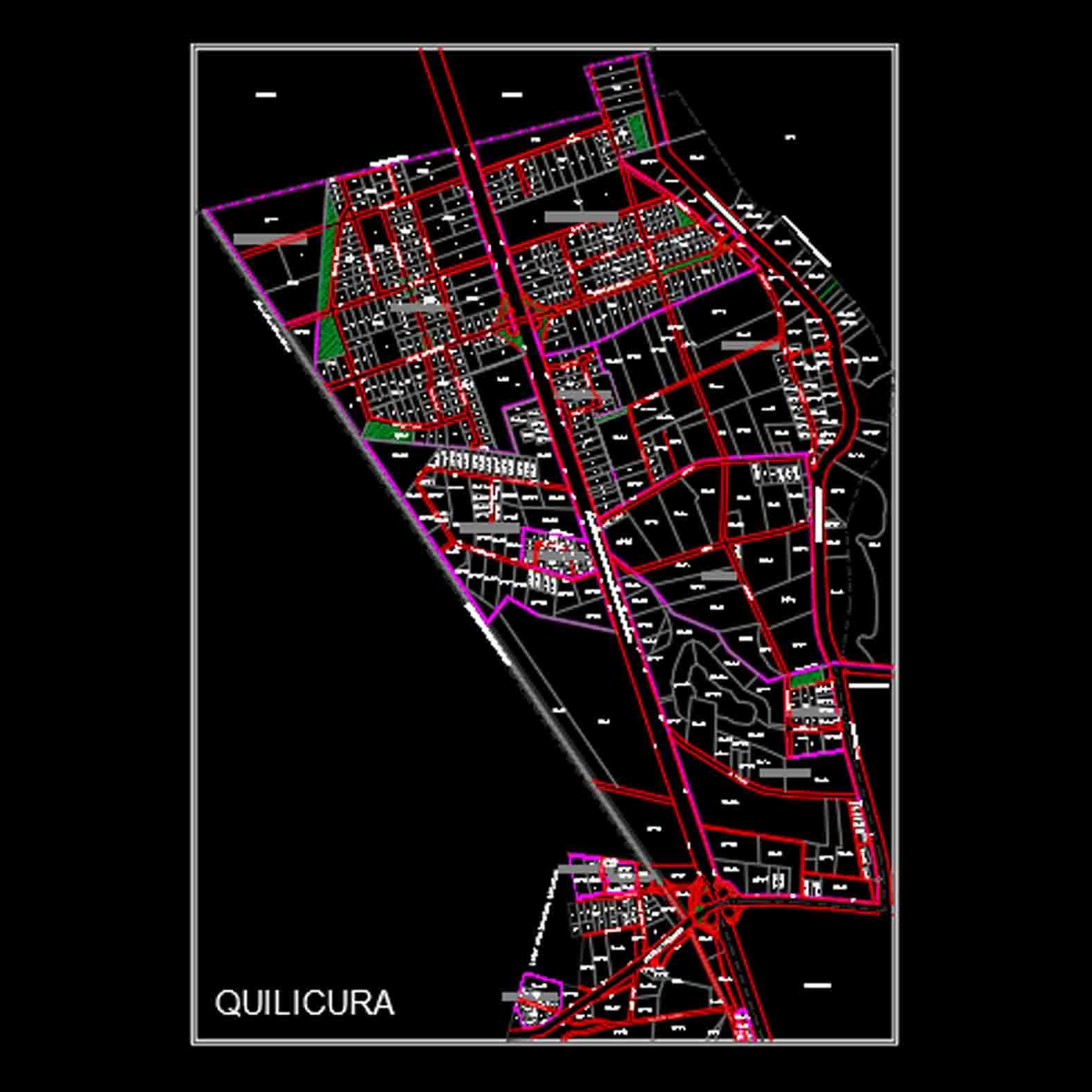 Plano: Comuna de Quilicura / Zona Industrial