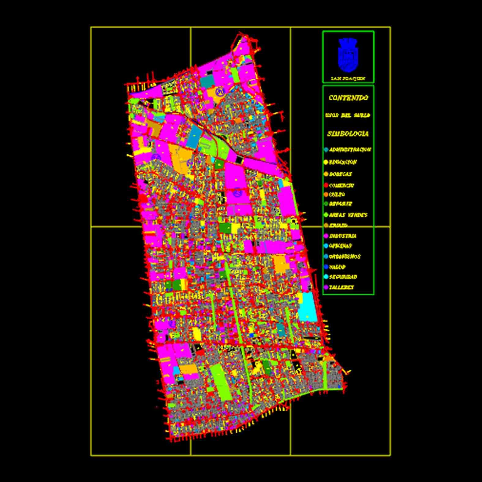 Plano: Comuna de San  Joaquín / Usos de suelo