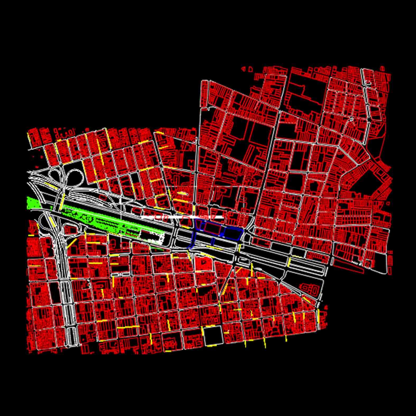 Plano: Barrio Mapocho / Comuna de Santiago