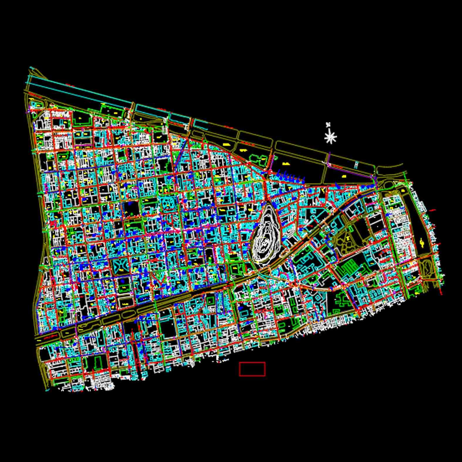Plano: Comuna de Santiago / Sector Nororiente