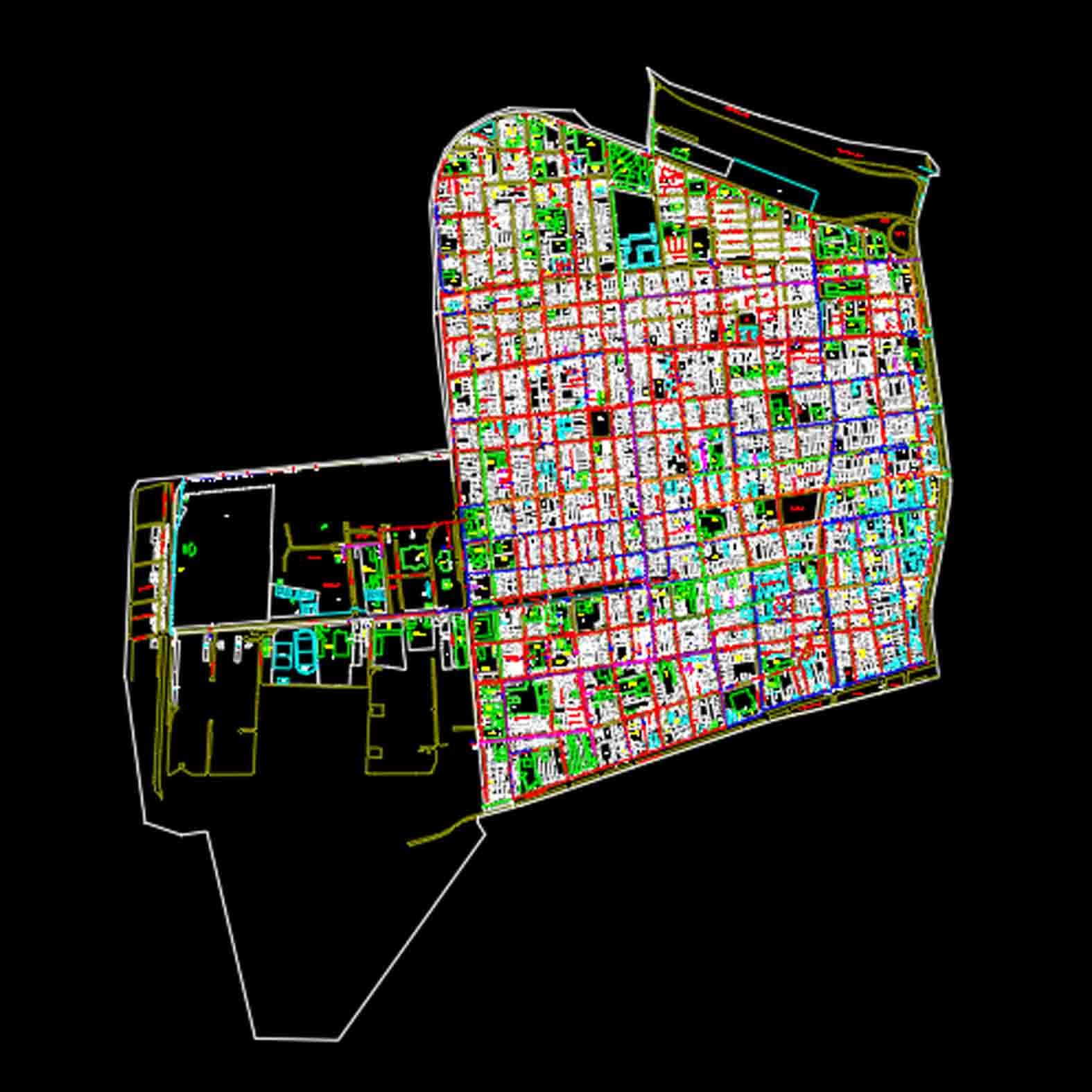 Plano: Comuna de Santiago / Sector Norponiente