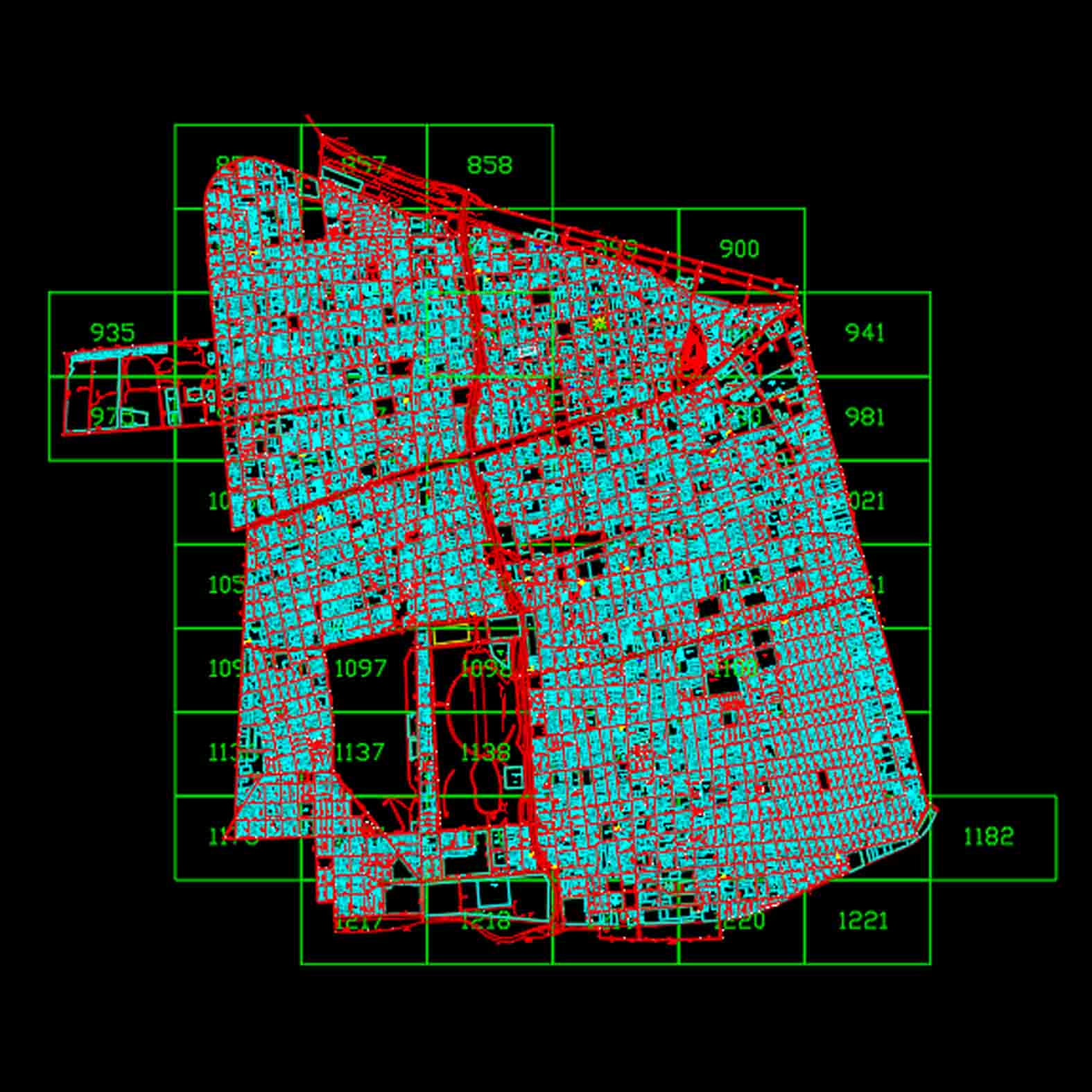 Plano: Comuna de Santiago