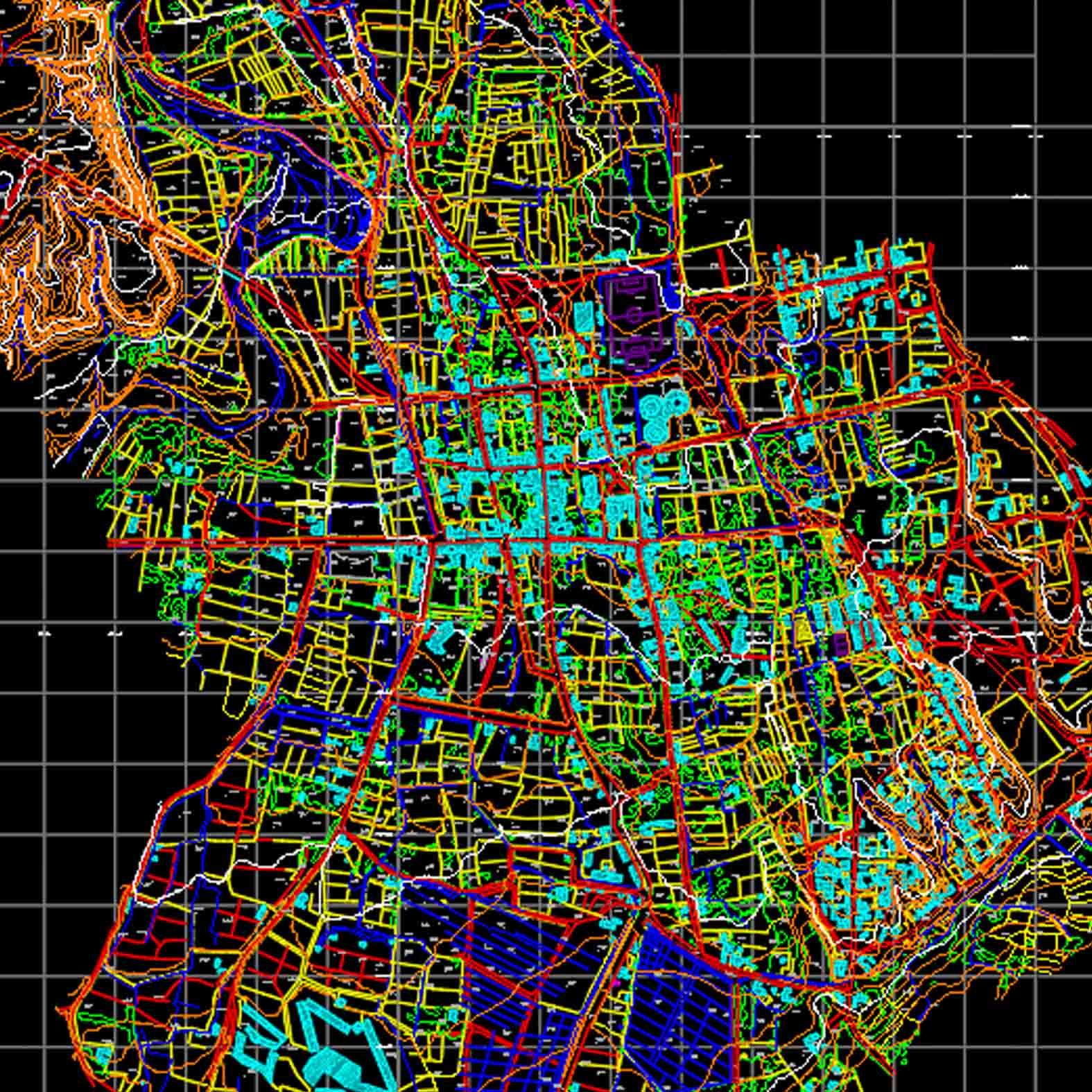 Plano: Ciudad de San Pedro de Atacama