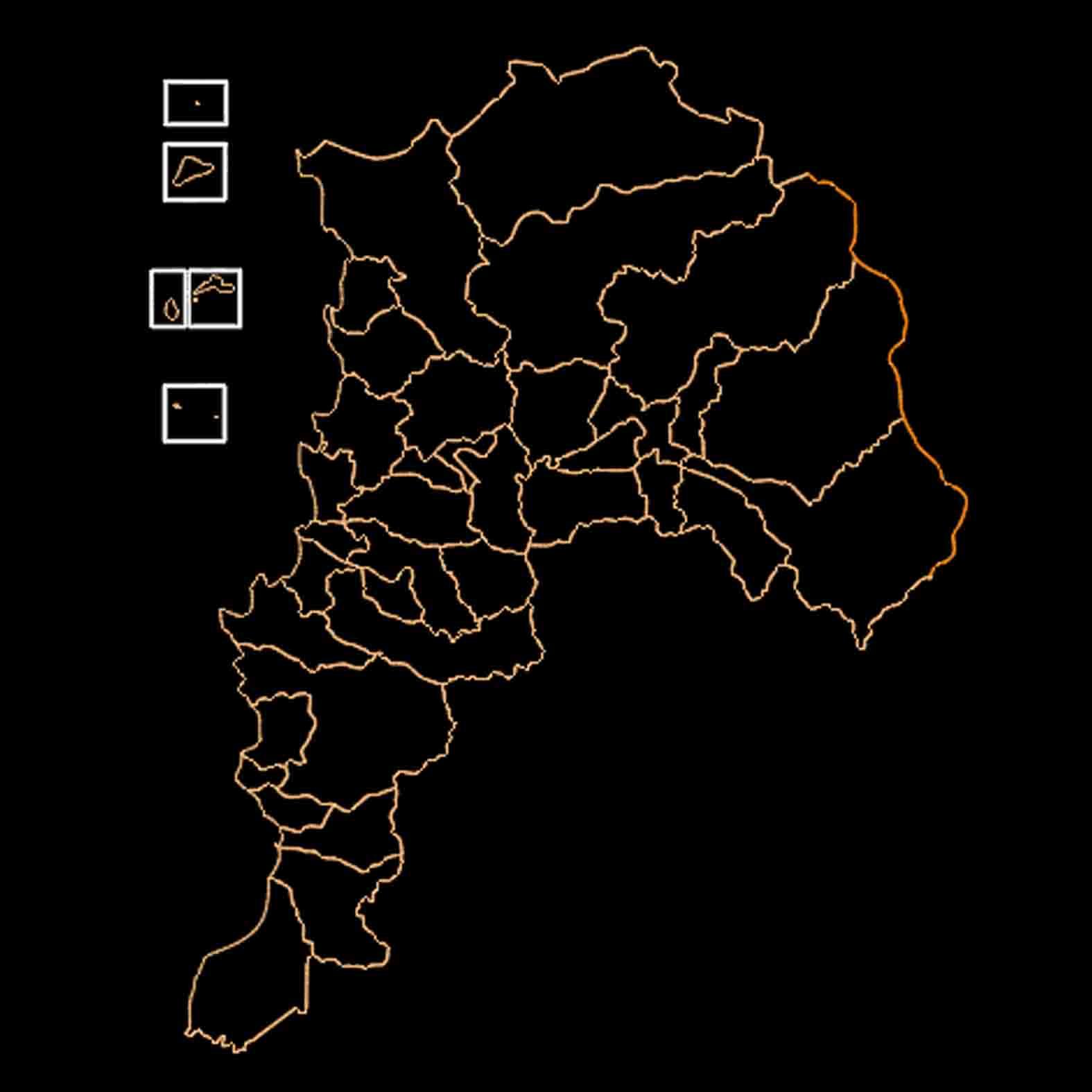 Plano: Región de Valparaíso / Comunas