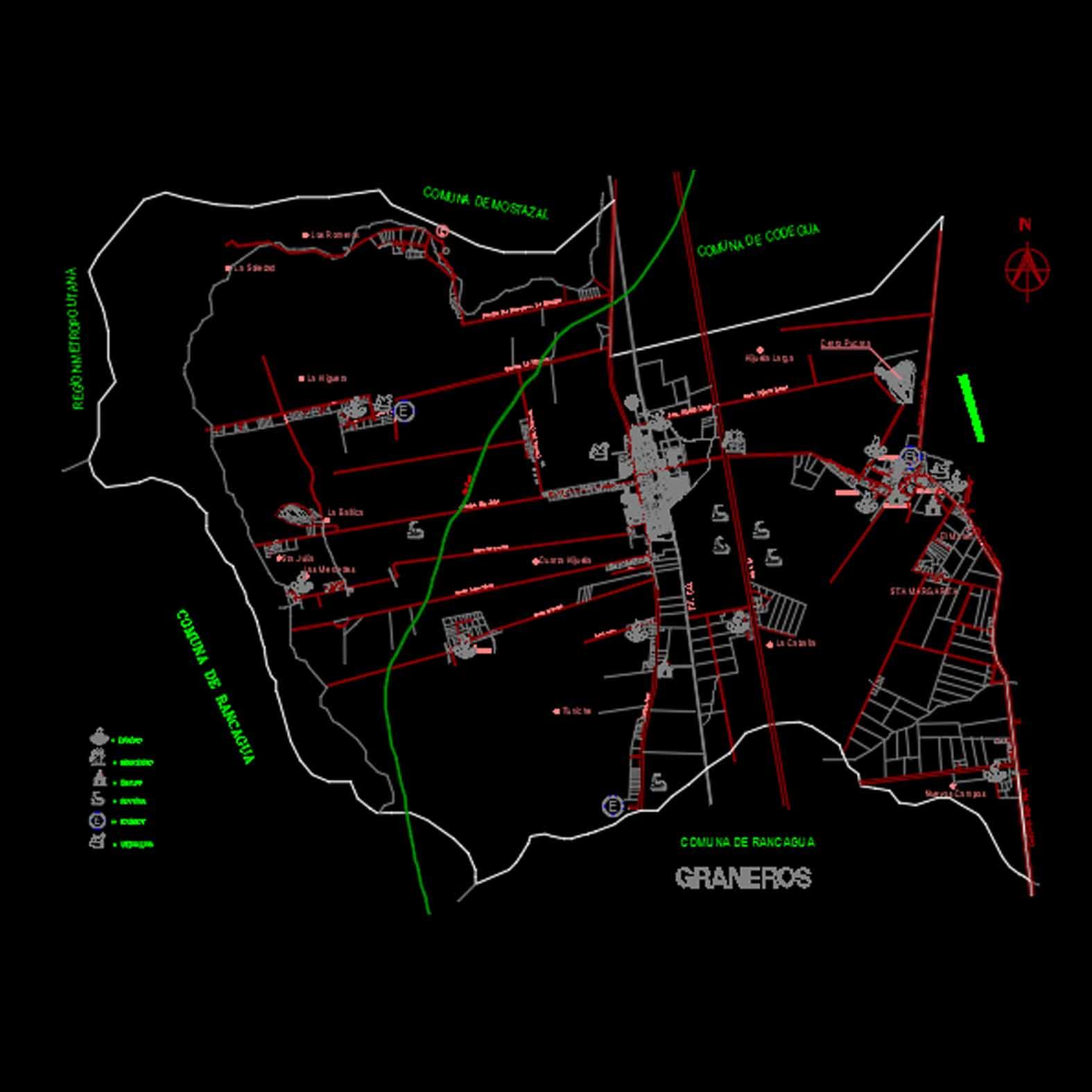 Plano: Ciudad de Graneros