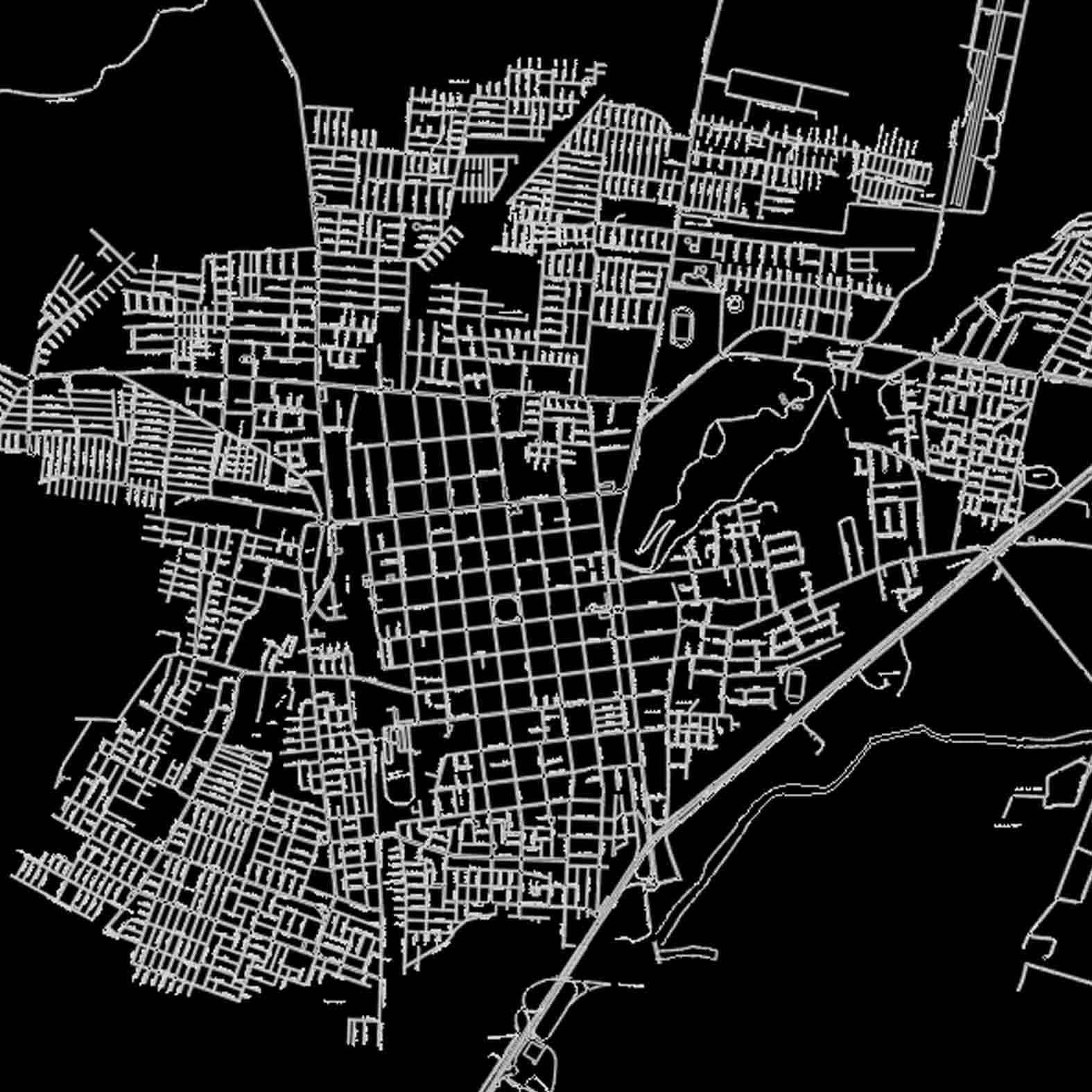 Plano: Ciudad de Curicó / Vialidad