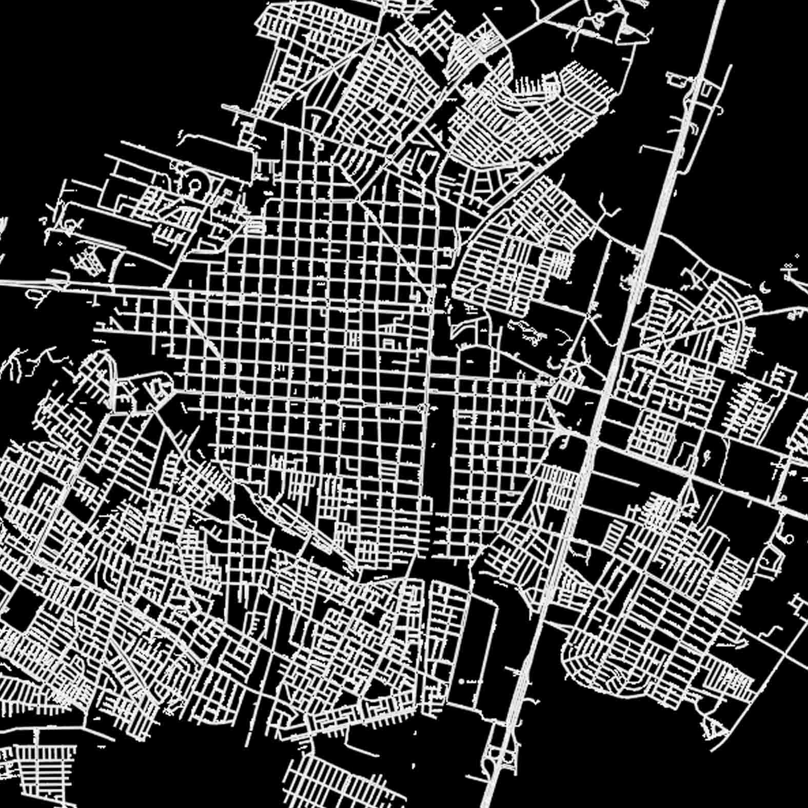 Plano: Ciudad de Talca / Vialidad
