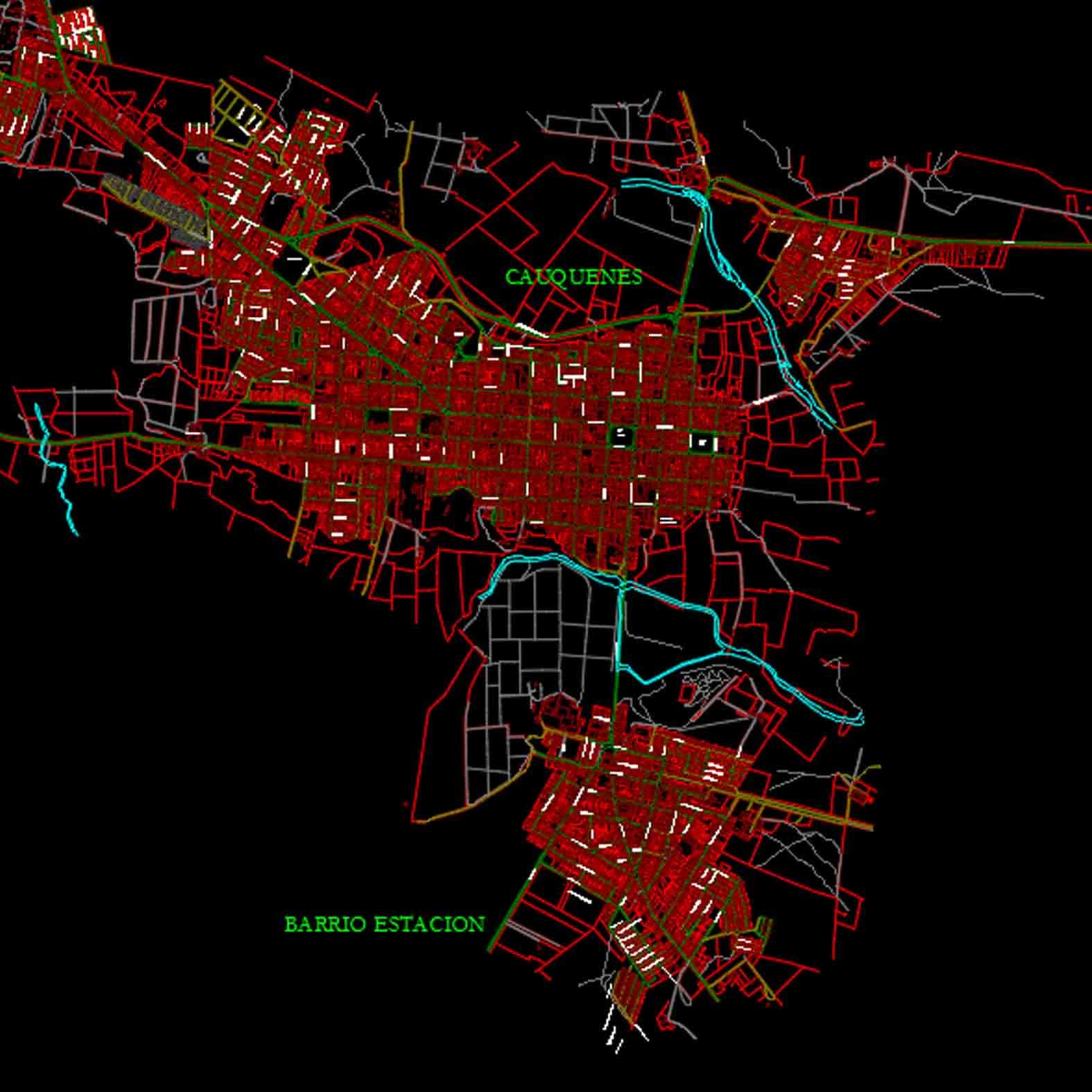 Plano: Ciudad de Cauquenes