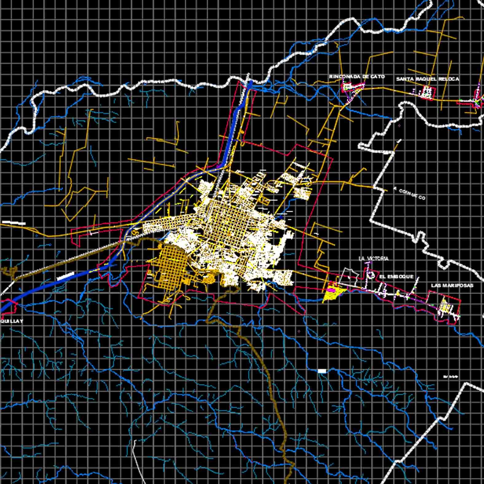 Plano: Ciudad de Chillán / Vialidad