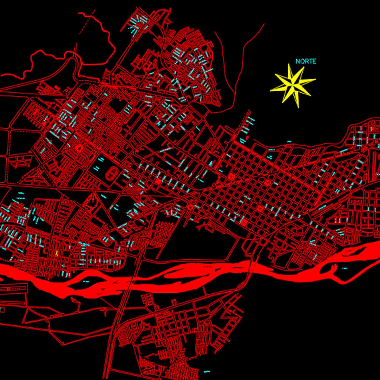 Plano: Ciudad de Temuco - Vialidad