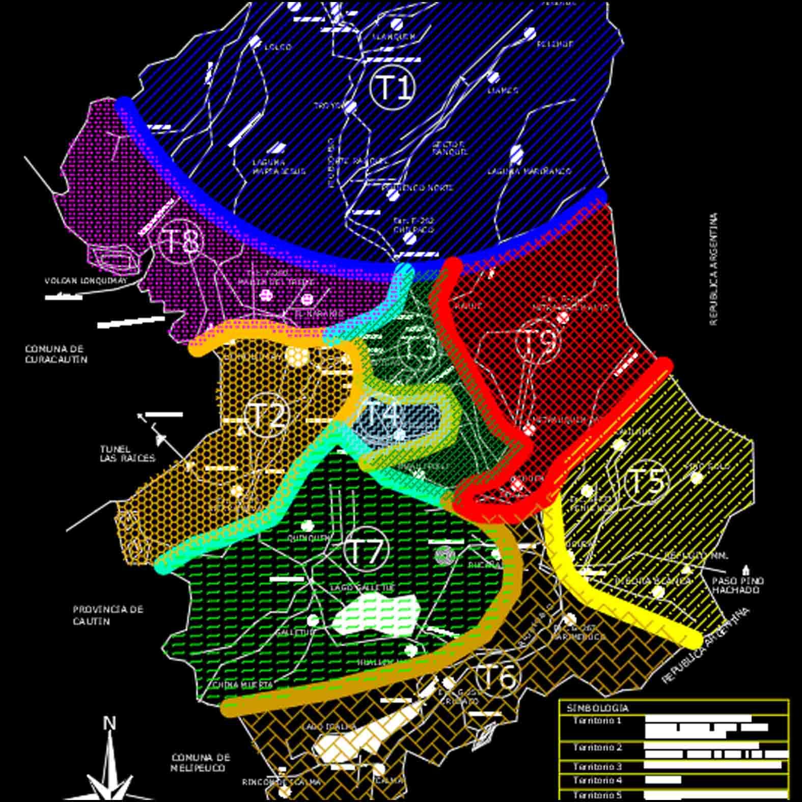 Plano: Comuna de Lonquimay - Análisis