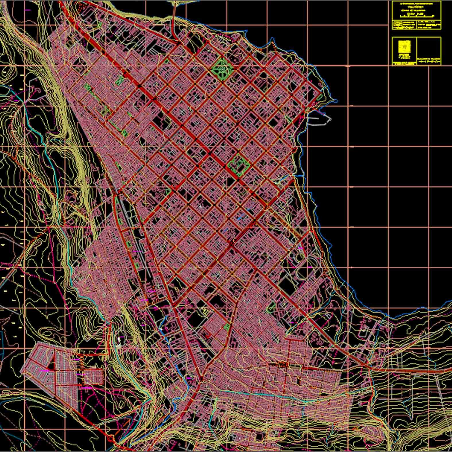 Plano: Comuna de Villarica