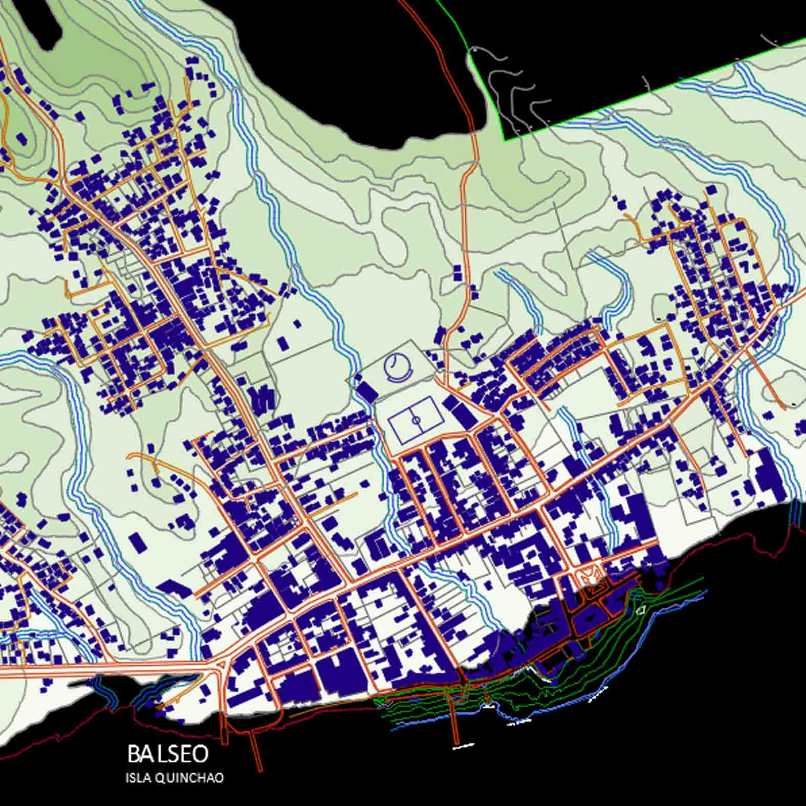Plano: Ciudad de Dalcahue