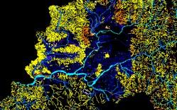 Plano: Hidrografía de la Región Metropolitana