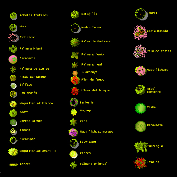 Bloques: Árboles en planta