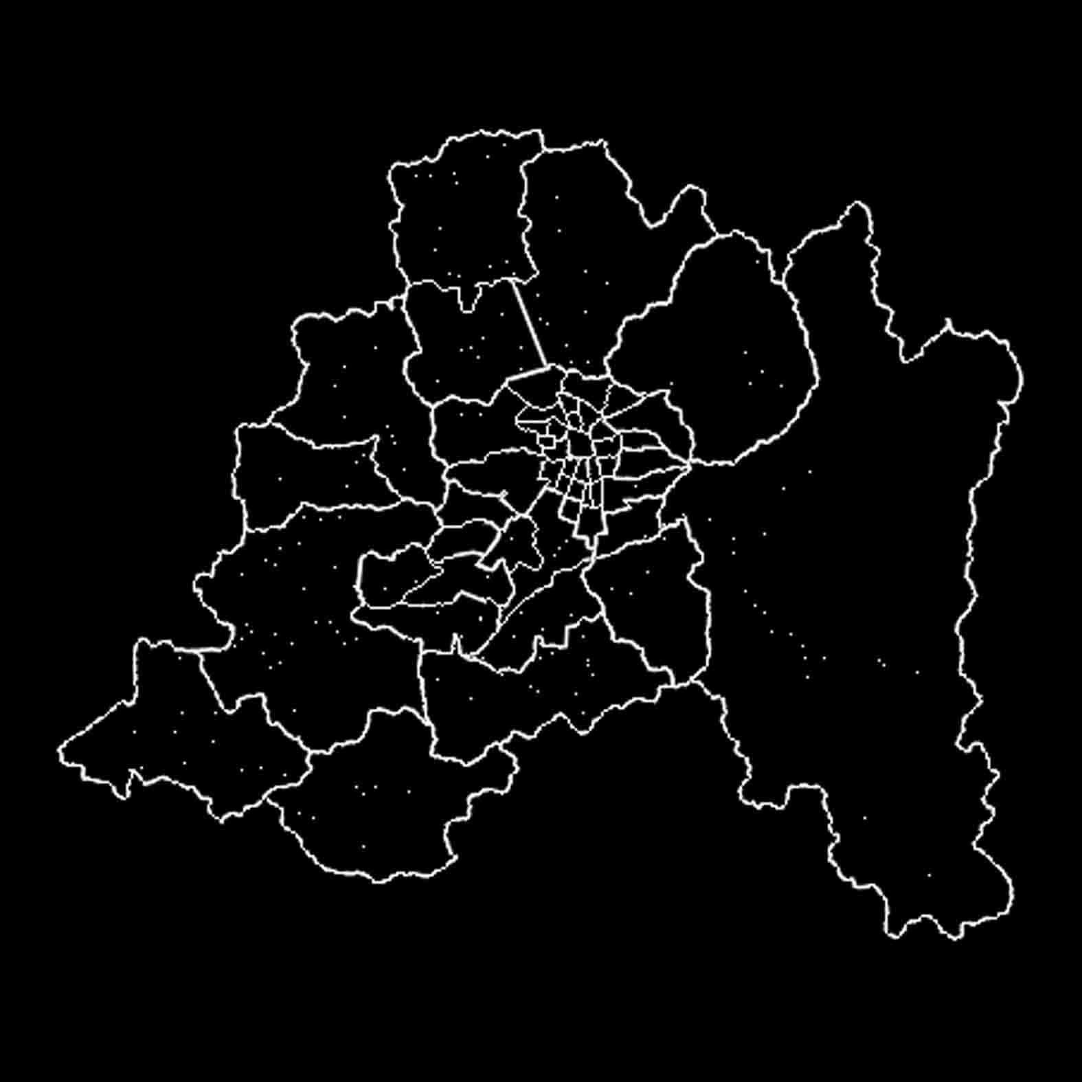 Plano: Región Metropolitana / División comunal