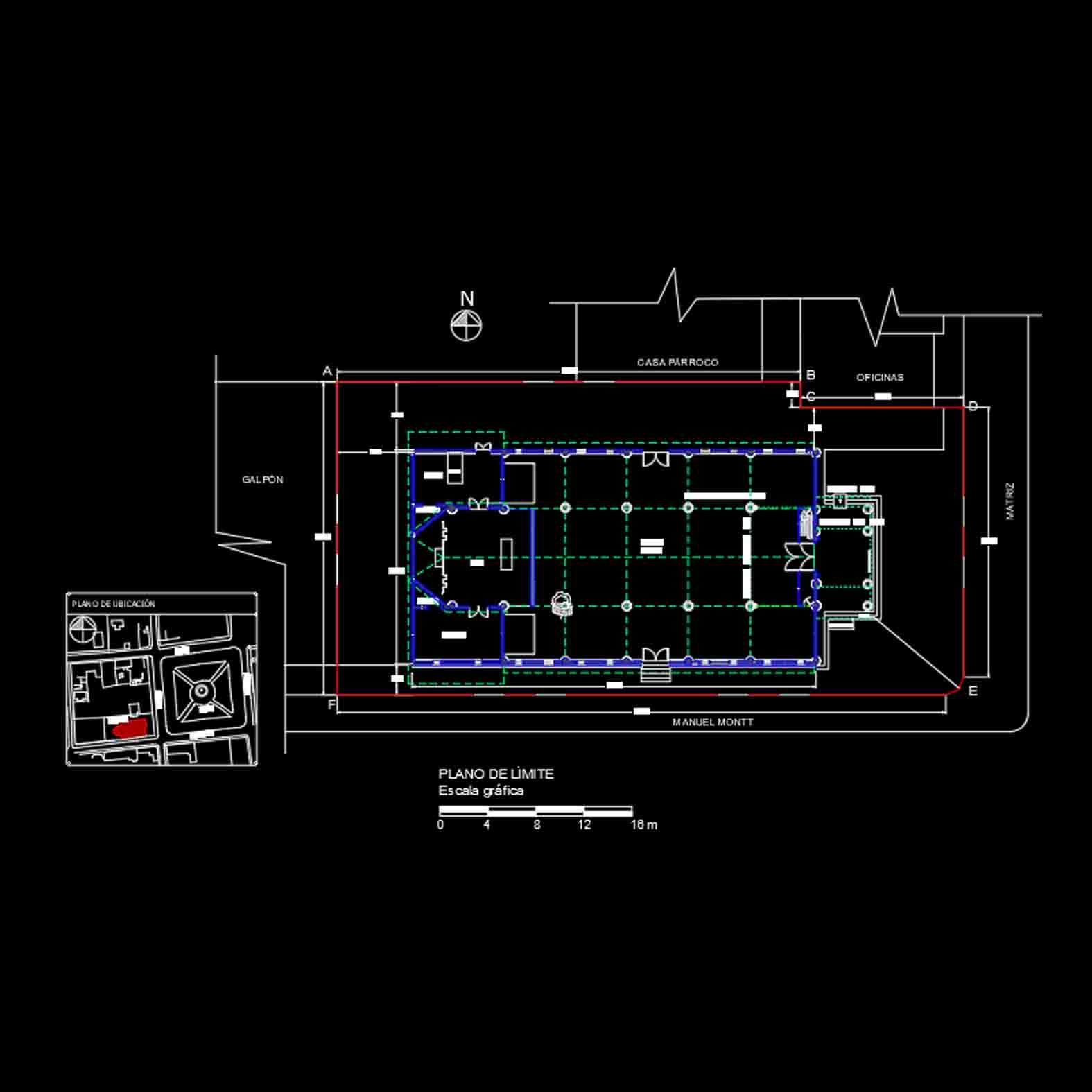 Plano: Iglesia de Petorca / Petorca
