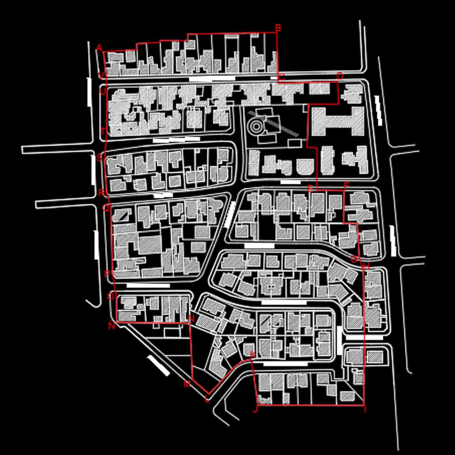 Plano: Conjunto Emilio del Porte y Entorno / Providencia