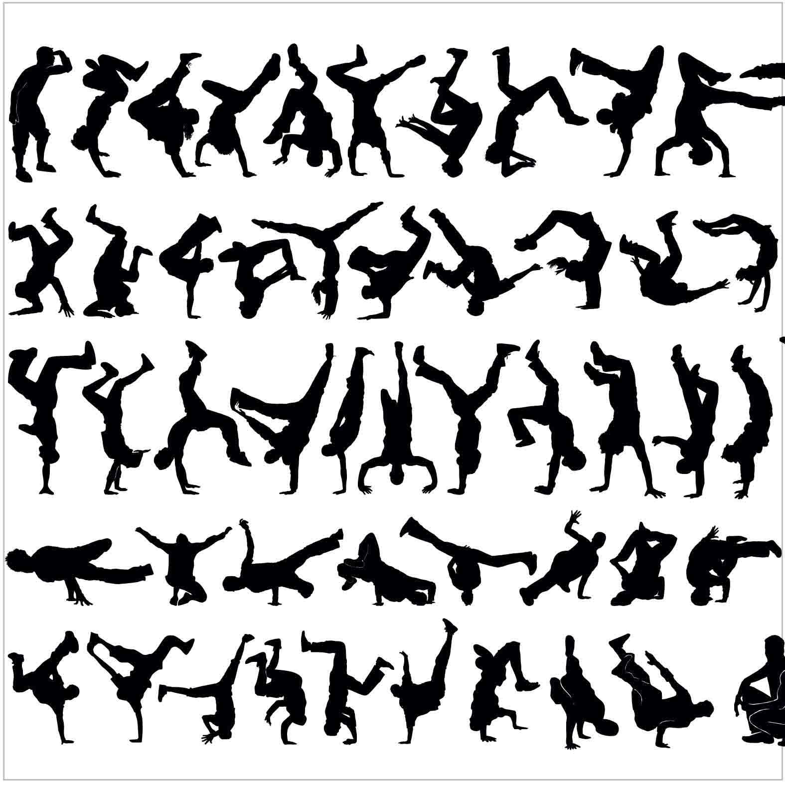 Bloques: Bailarines / Vectorial