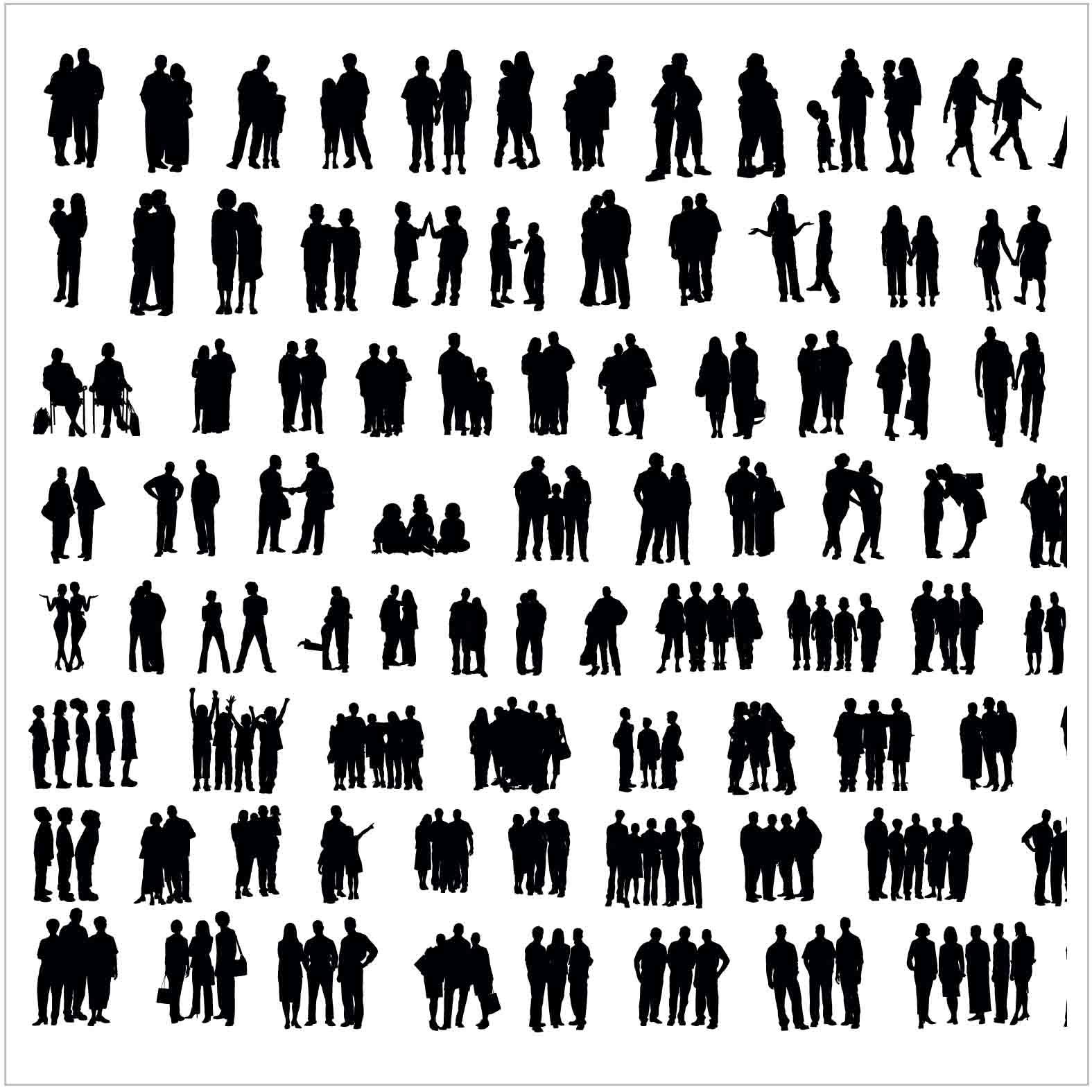 Bloques: Personas en Grupo / Vectorial