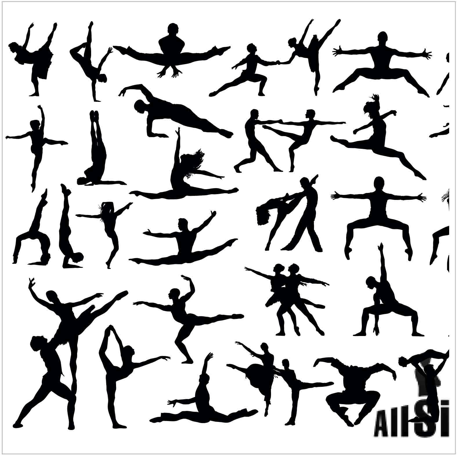 Bloques: Personas Bailando / Vectorial
