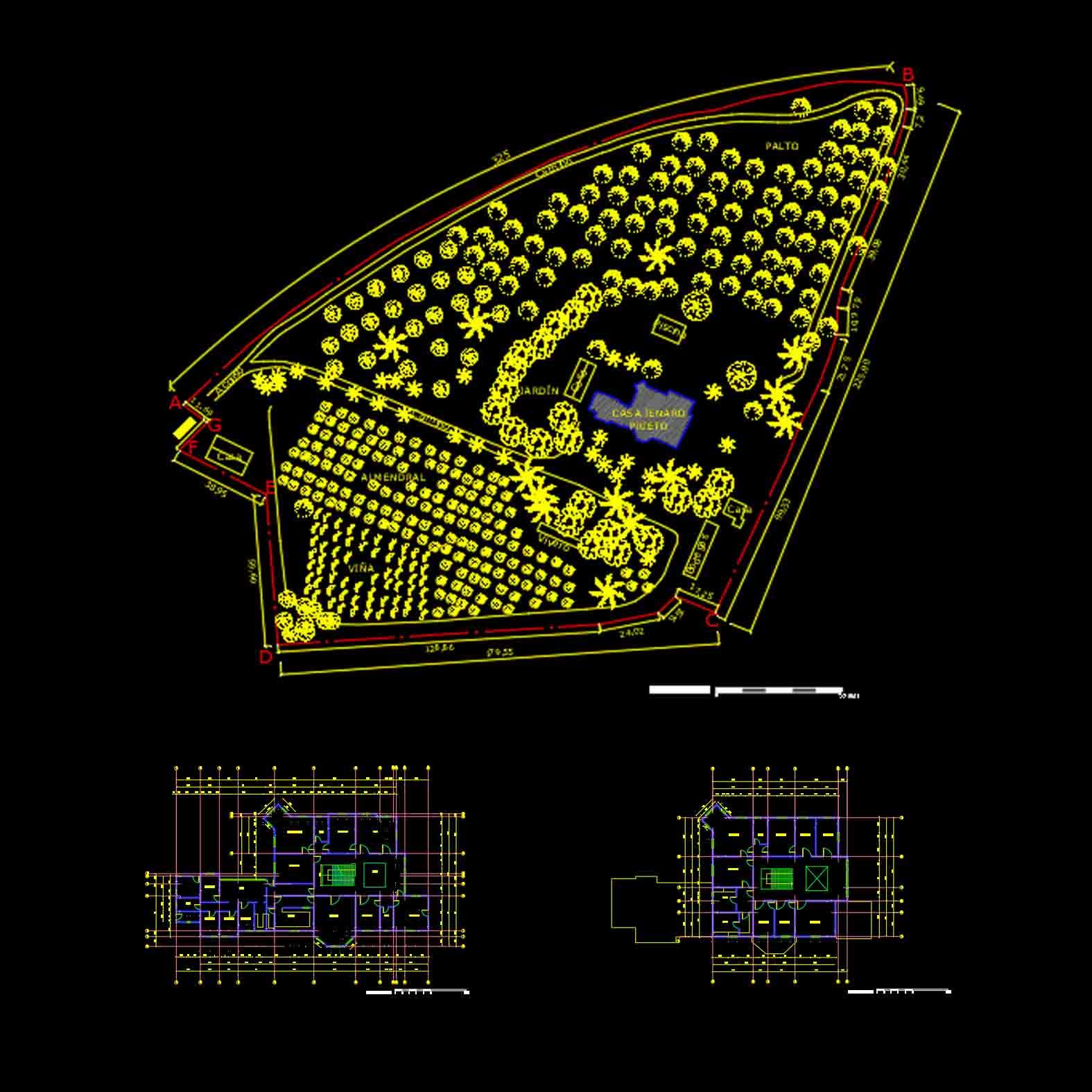 Plano: Casa Jenaro Prieto / Llay Llay