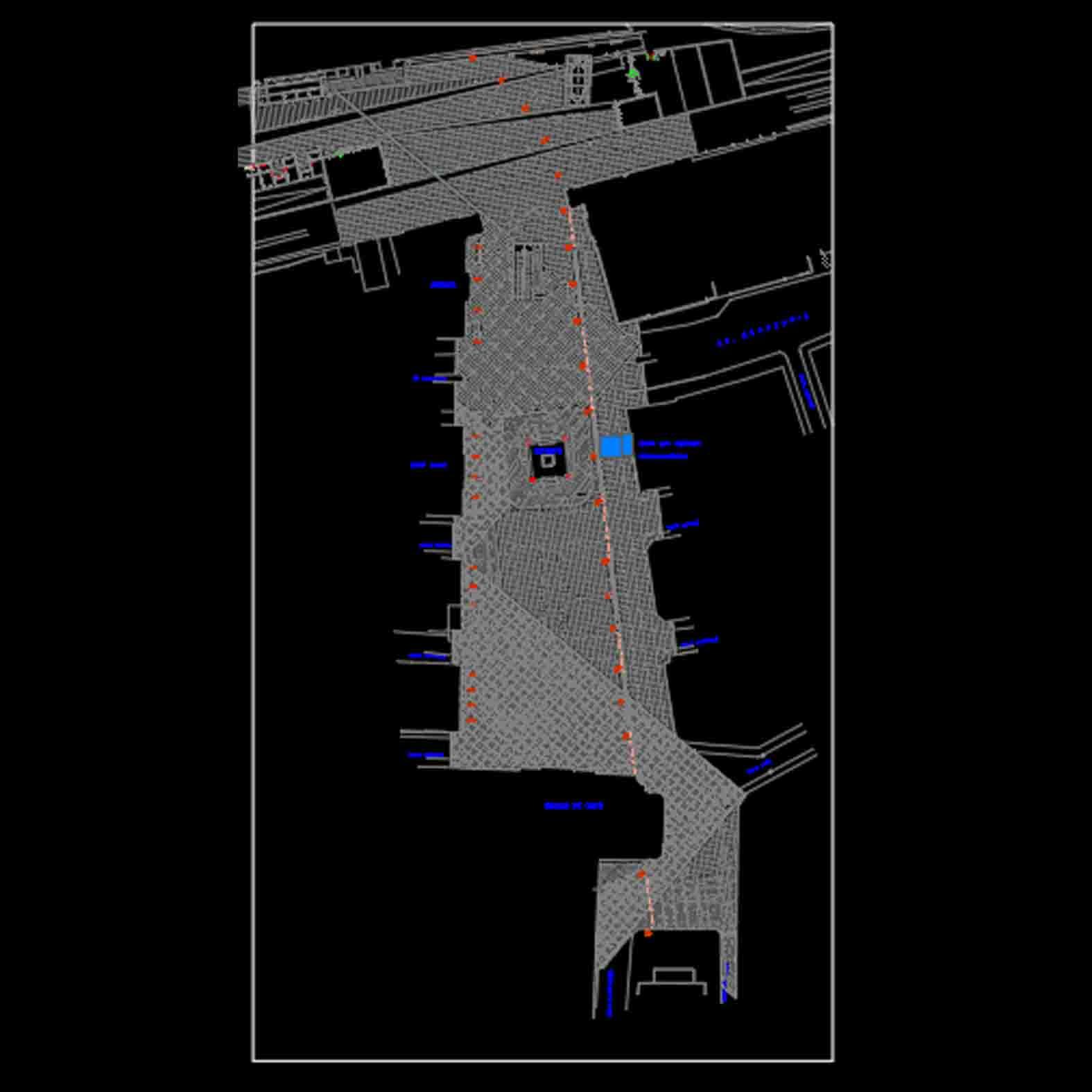 Plano: Plaza Sotomayor y Muelle Pratt