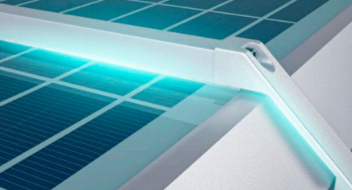 Luminaria Solar Auto Limpiante Serie DEC AL
