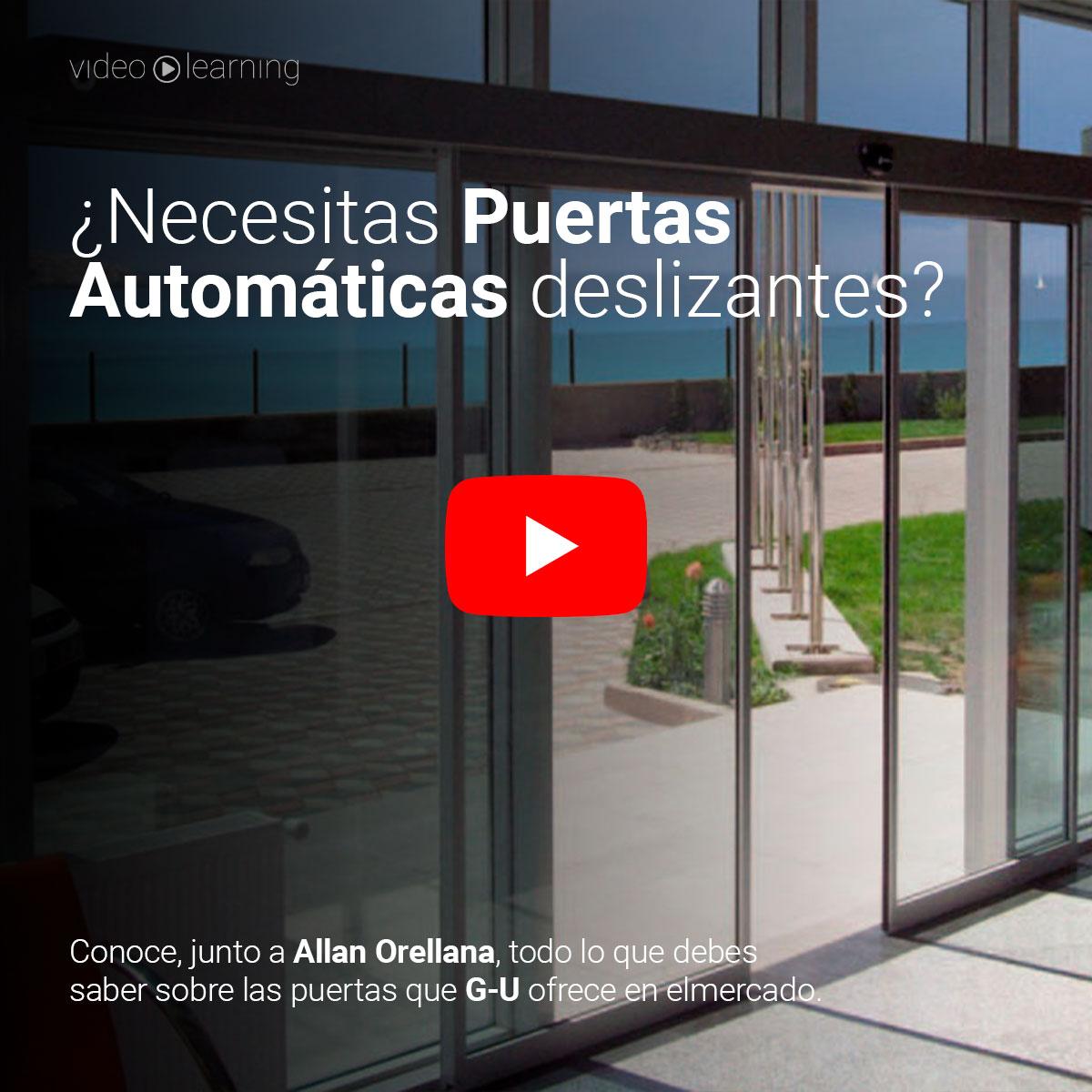 🎬   Aprende todo sobre las Puertas Automáticas Deslizantes