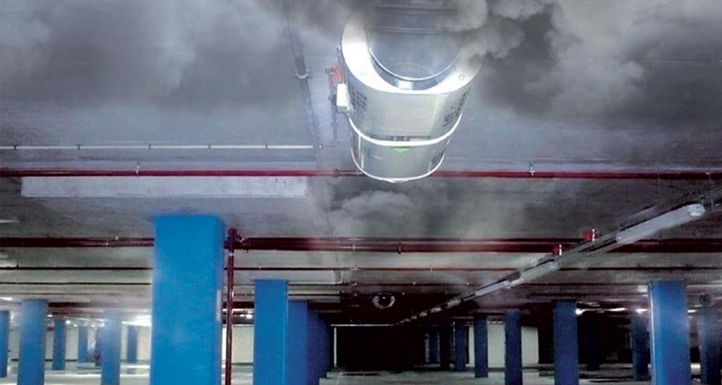 Extracción humo estacionamientos