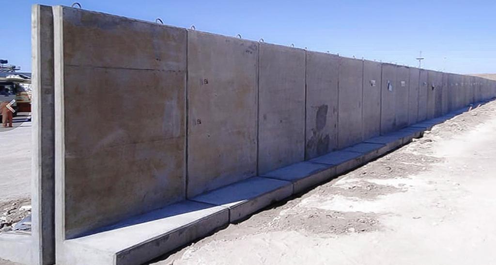 Muro perimetral antivandalismo