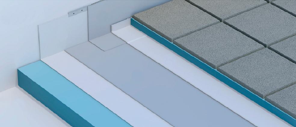 Losa y cubierta plana transitable