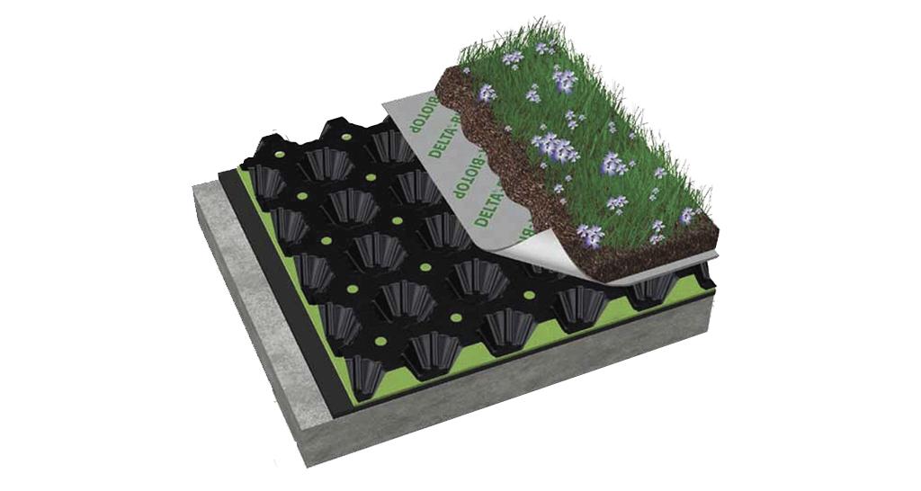 Membrana Drenante para Techos verdes: Delta Garden Roof System